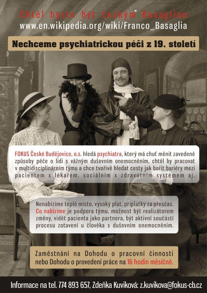 Plakát hledá se psychiatr